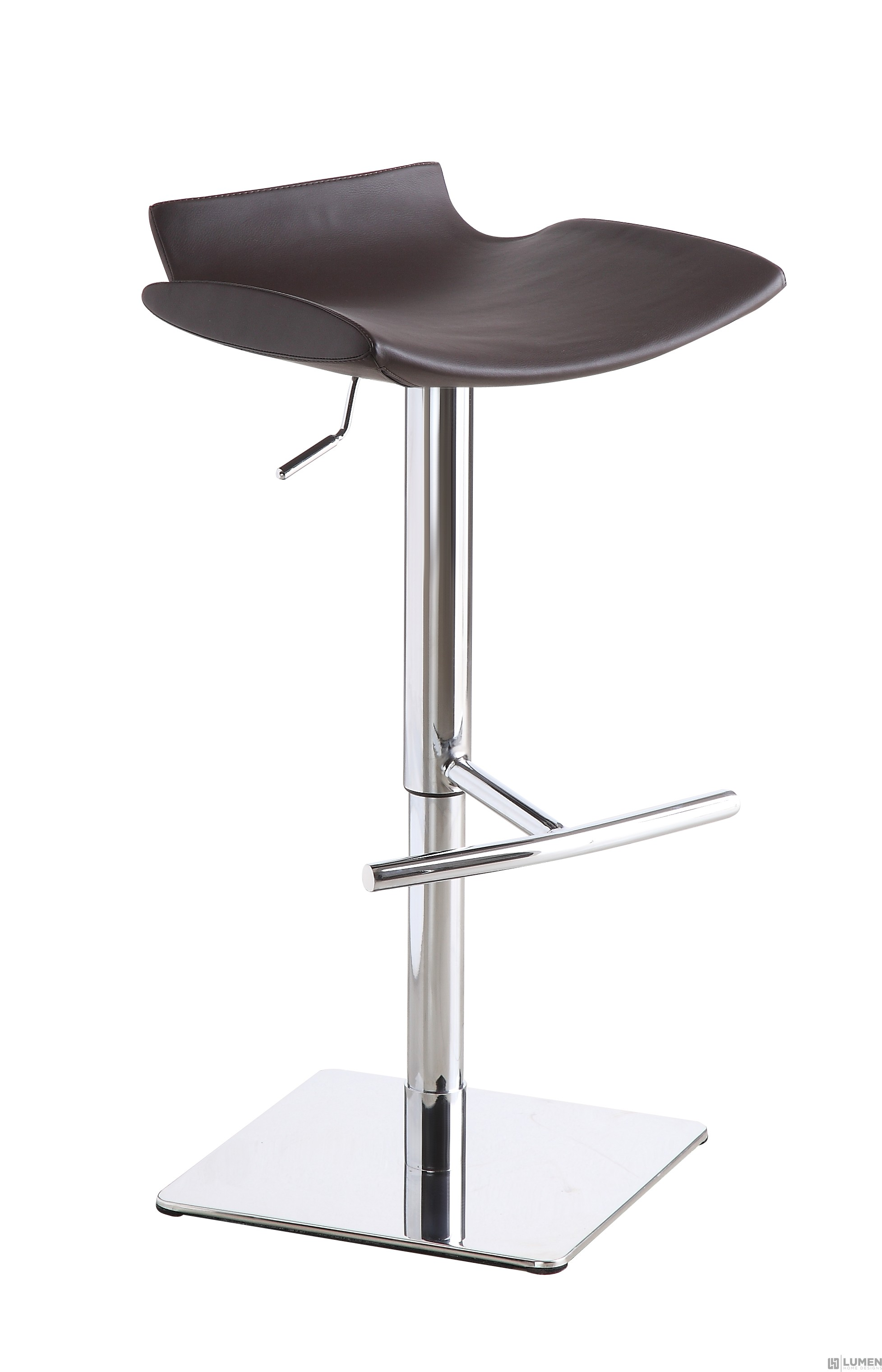 No Back Chrome Bar Stool