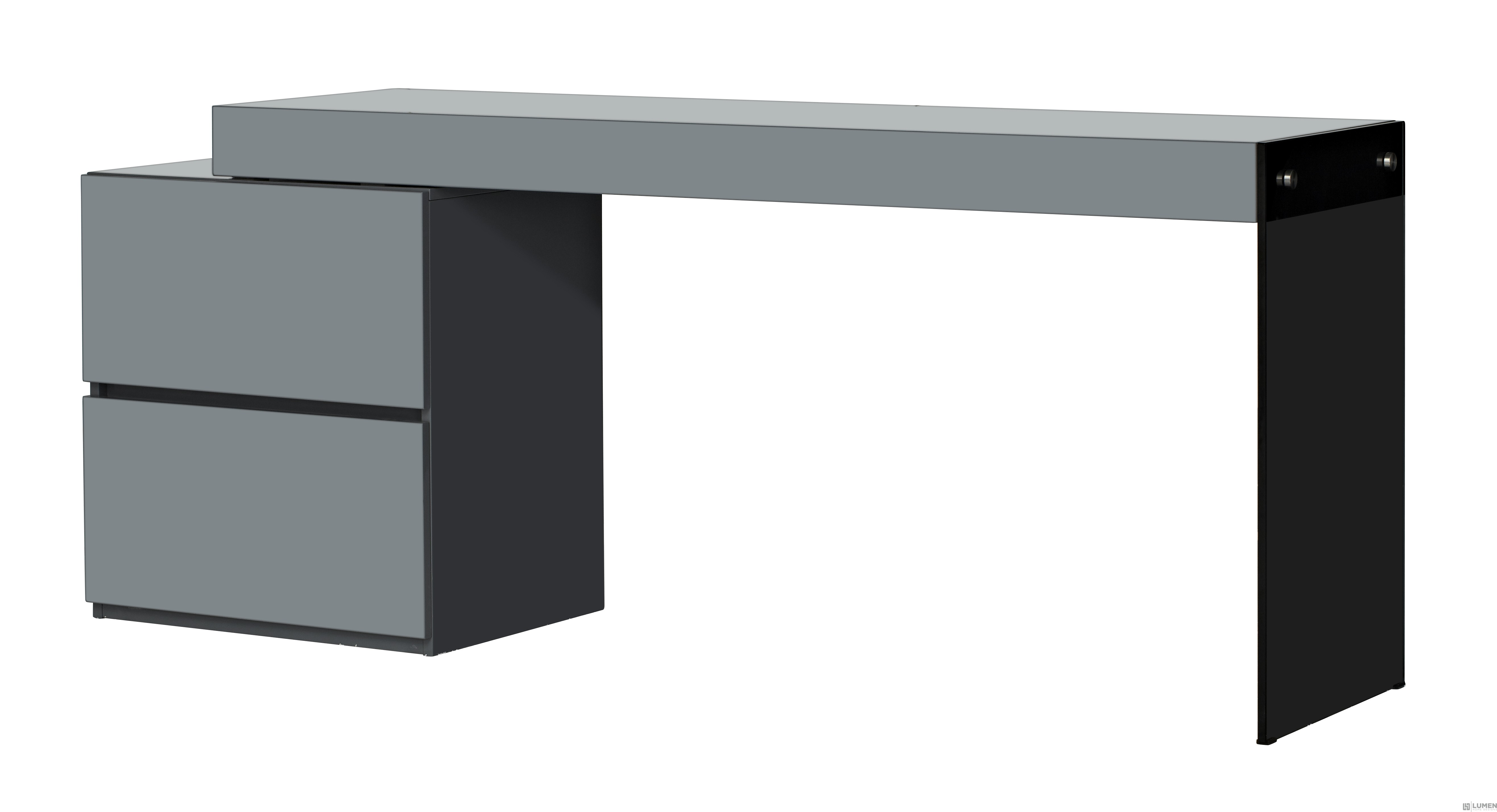 Grey Glass Heavy Duty Desk