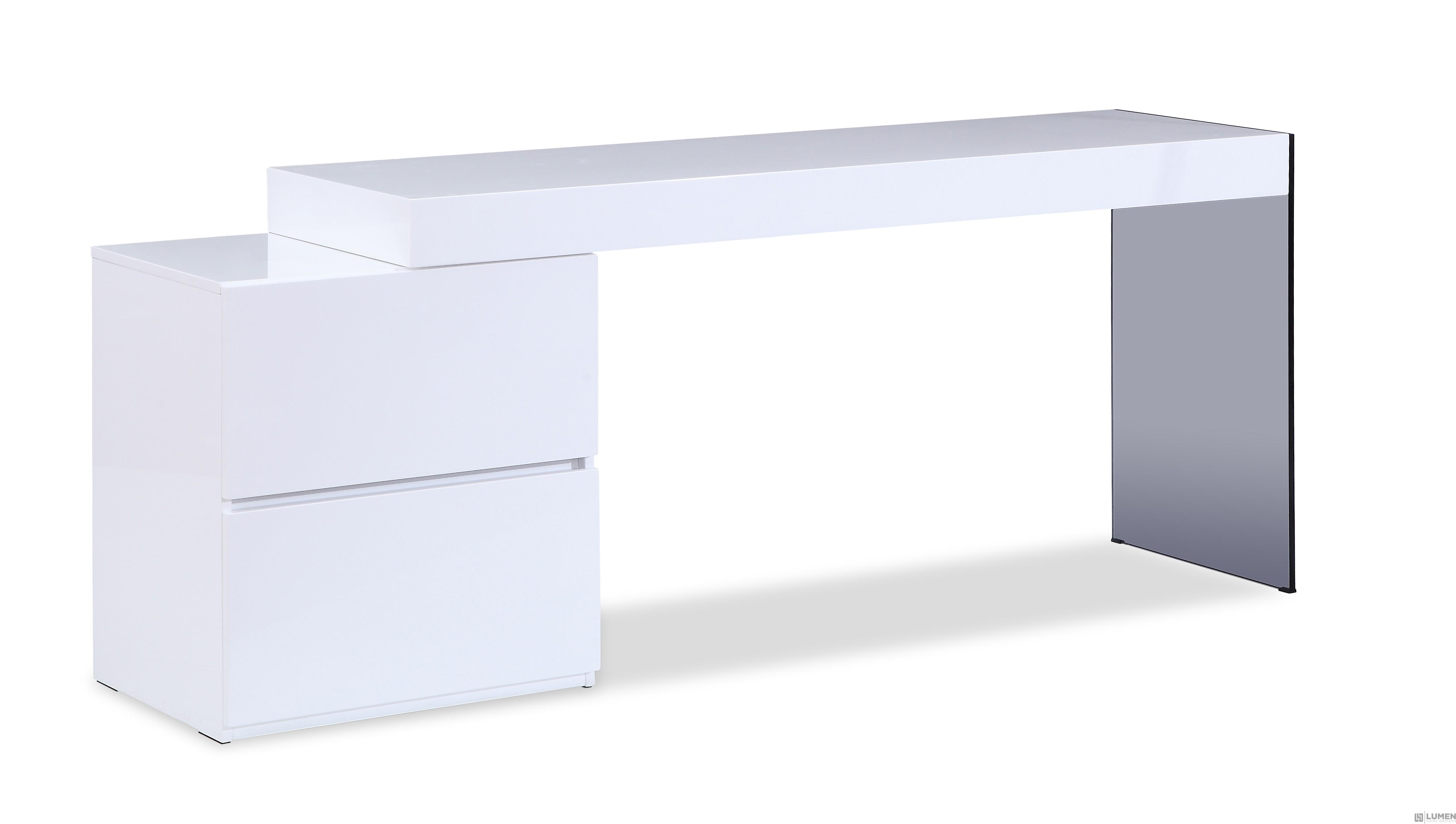 Crisp White Modern Desk
