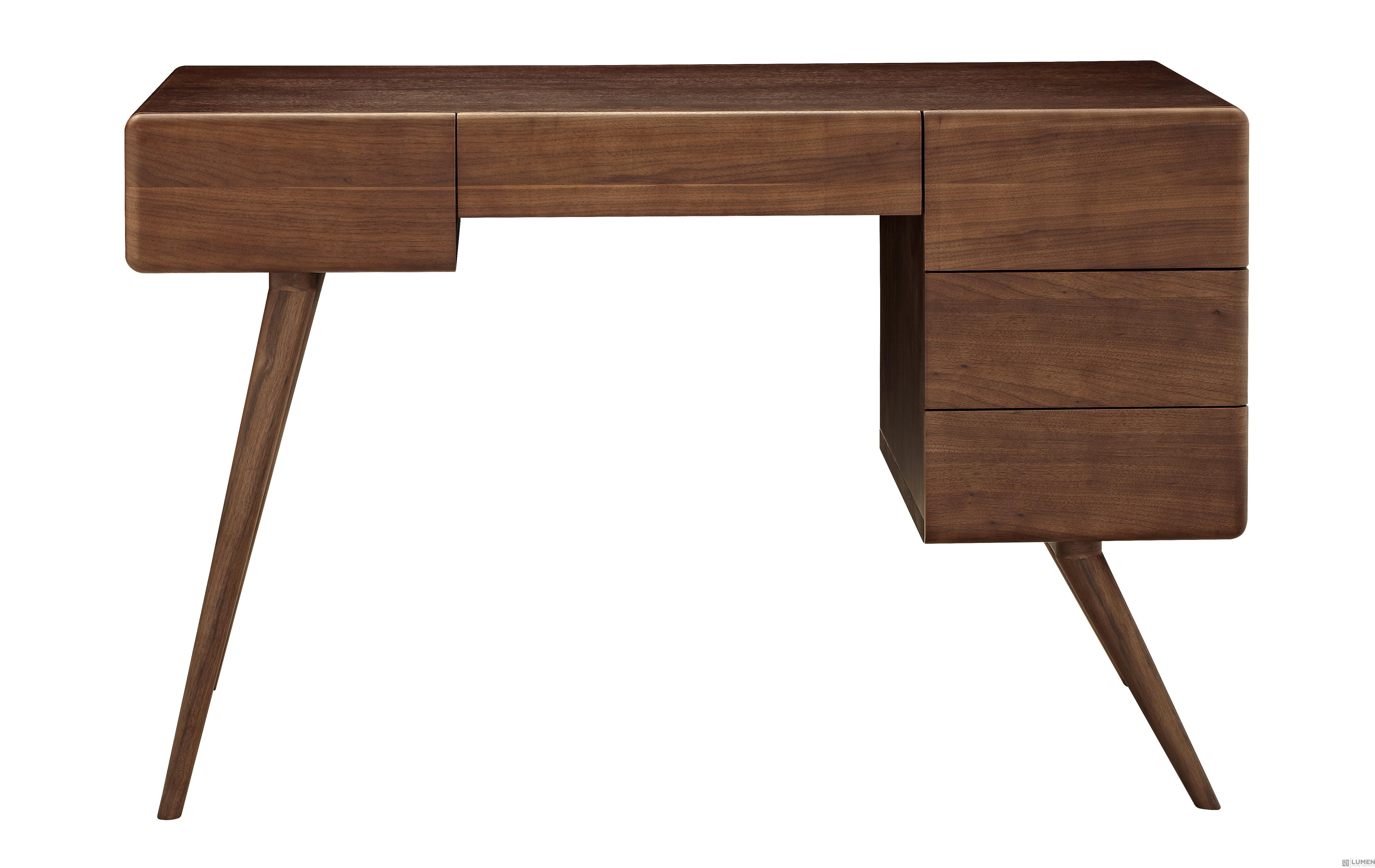 Minimalist Warm Wood Desk