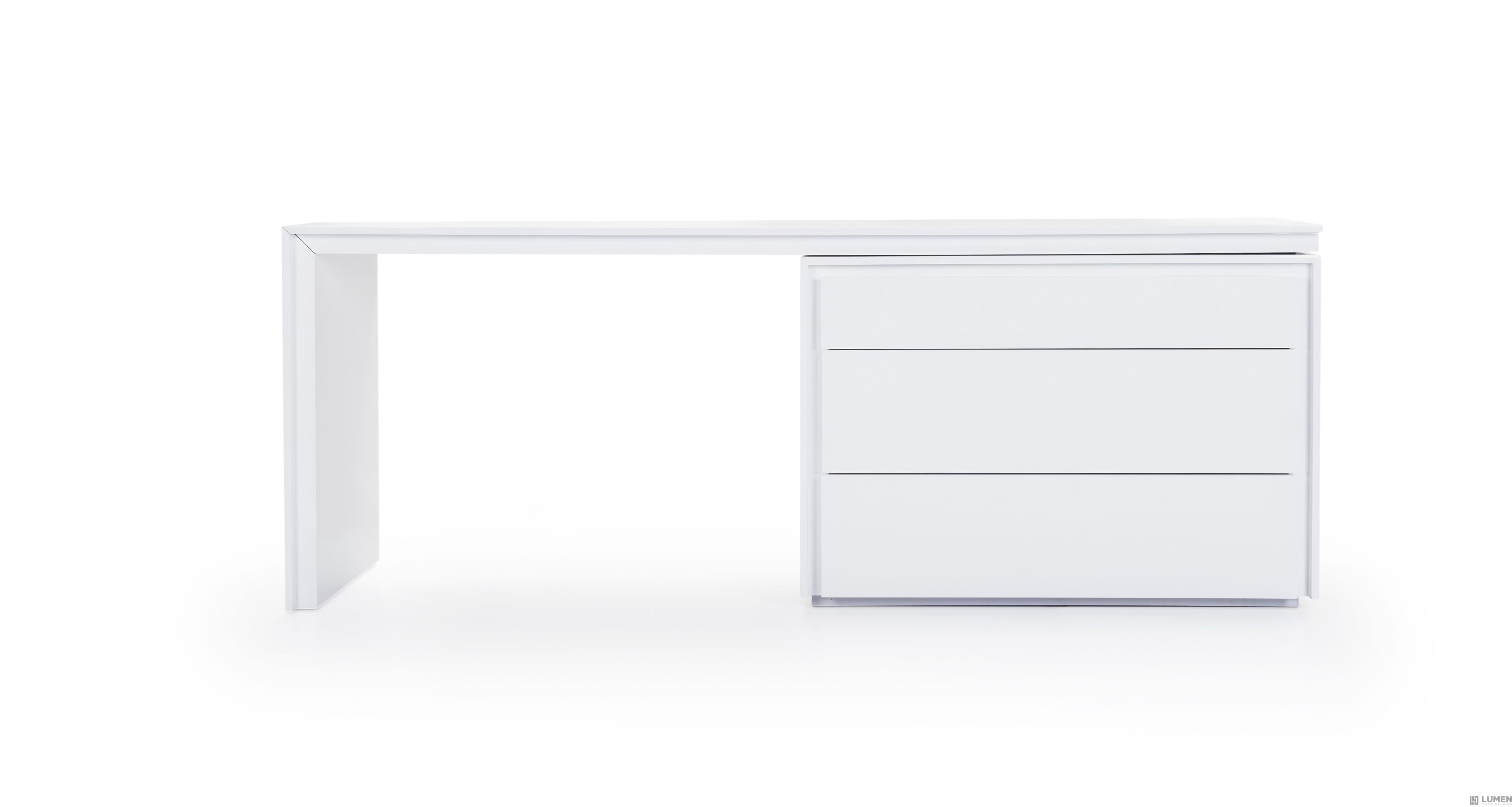 White Lacquer Classic Desk