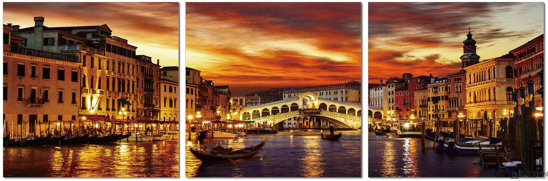 Venice At Dawn Wall Print Set