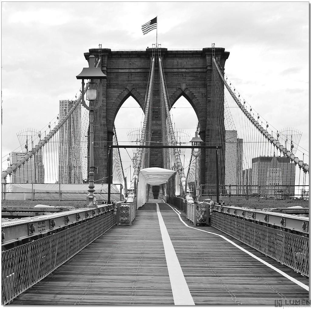 American Brooklyn Bridge B&W Wall Print