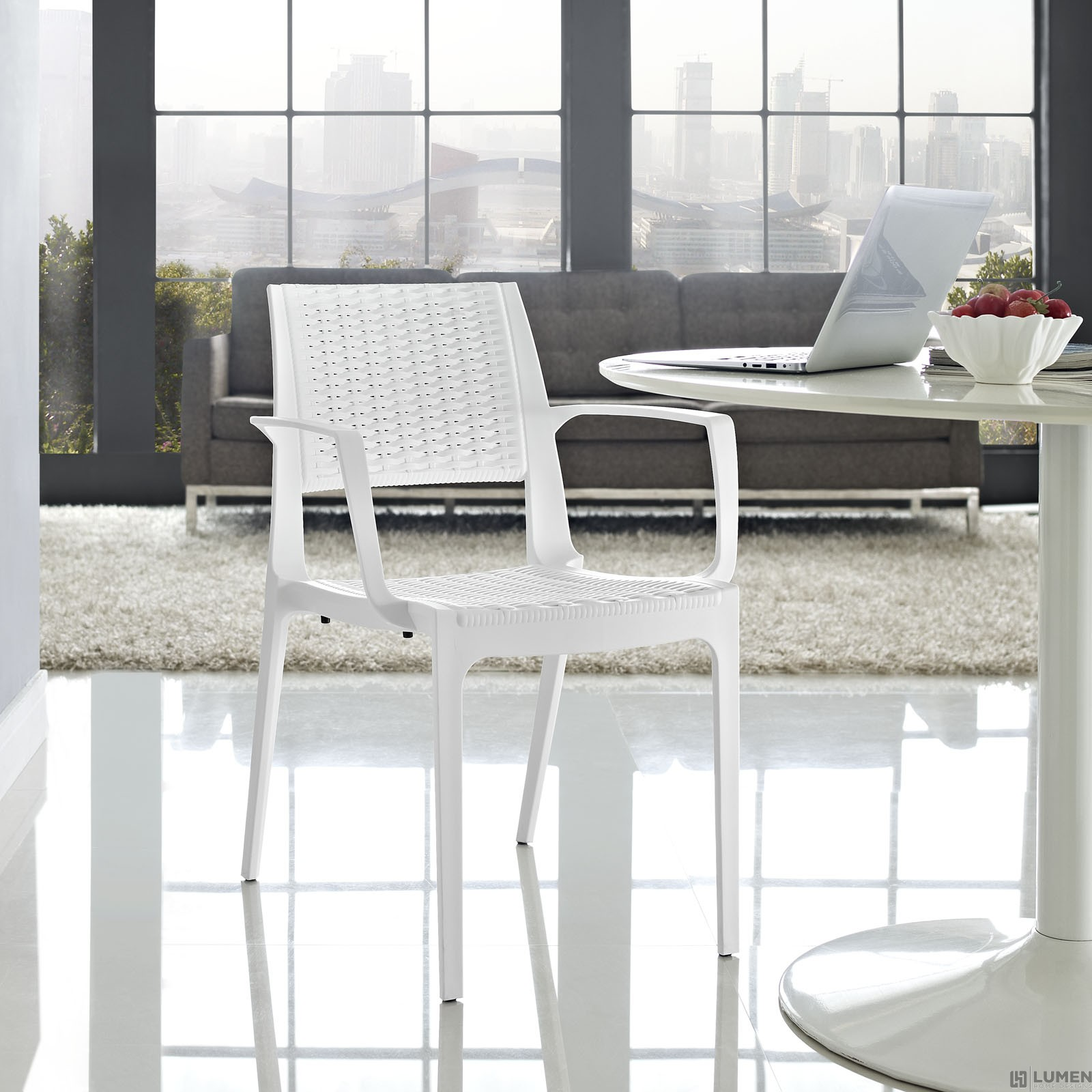 LHD-1467-WHI-Dining-Armchair