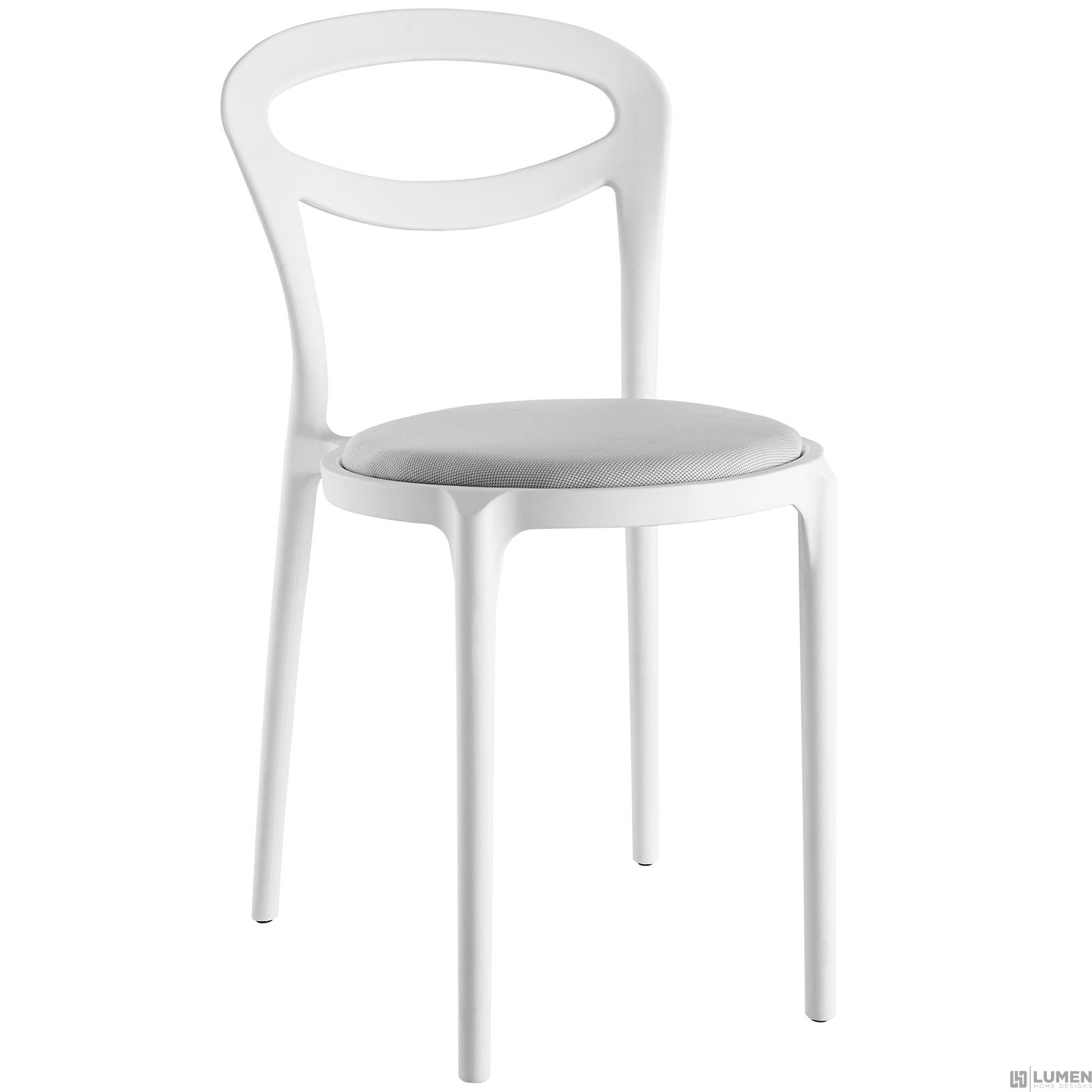 LHD-1772-WHI-GRY-Dining Chair